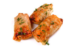 Cabbage rolls filled with ground meat Stock Image