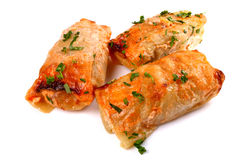 Cabbage rolls filled with ground meat Royalty Free Stock Images