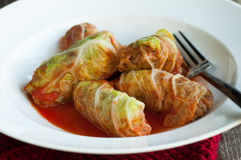 Cabbage Rolls with Ground Beef Stock Image