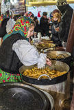 Cabbage rolls from Maramures at Christmas market in Bucharest Stock Image