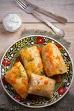 Cabbage rolls with meat, rice and vegetables. Stuffed cabbage leaves with meat. Chou farci, dolma, sarma. Stock Images