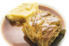 Cabbage rolls with potatoes  Mashed on white Royalty Free Stock Image
