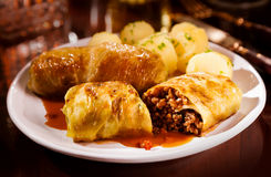 Cabbage rolls with savory mince stuffing Royalty Free Stock Photography