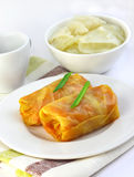 Cabbage rolls stuffed with meat and vegetables Stock Photography