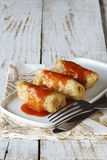 Cabbage rolls with tomato sauce Stock Images