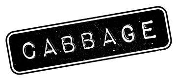 Cabbage rubber stamp Stock Photography