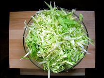 Cabbage salad. In glass vessel Royalty Free Stock Photos