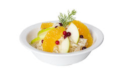 Cabbage salad with apples, oranges and cranberries Stock Image