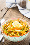 Cabbage salad with carrot in bowl Stock Image