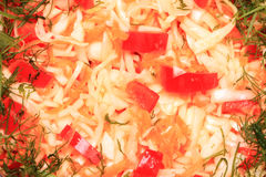 Cabbage salad with greens Stock Images