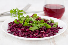 Cabbage salad with parsley Stock Images