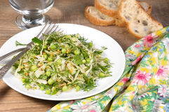 Cabbage salad with peas Stock Photography
