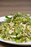 Cabbage salad with peas Stock Images