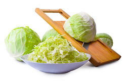 Cabbage and salad slicer Royalty Free Stock Images