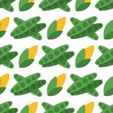Cabbage seamless pattern background for food design harvesting garden summer vitamin wallpaper vector illustration. Healthy fresh natural vegetable Royalty Free Stock Photography