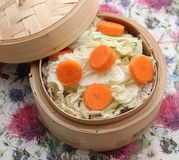 Cabbage. Some white cabbage and carrots in a cooking pot Royalty Free Stock Photography