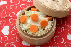 Cabbage. Some white cabbage and carrots in a cooking pot Stock Image