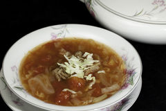 Cabbage Soup. Sweet-and-Sour in a bowl Stock Image