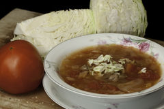 Cabbage Soup. Sweet-and-Sour in a bowl Royalty Free Stock Images