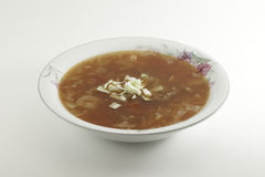 Cabbage Soup. Sweet-and-Sour in a bowl Royalty Free Stock Photos