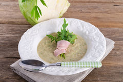 Cabbage soup with Arugula Royalty Free Stock Images