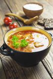 Cabbage soup with meat royalty free stock images