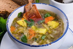 Cabbage stew with meat Stock Photos