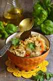Cabbage stewed with mushrooms. Stock Images