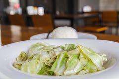 Cabbage stir fish sauce Stock Image