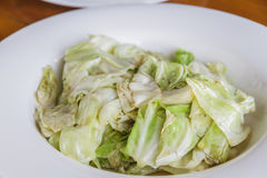 Cabbage stir fish sauce Royalty Free Stock Images