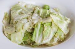 Cabbage stir fish sauce Royalty Free Stock Image