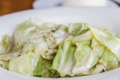 Cabbage stir fish sauce Stock Images