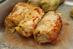 Cabbage stuffed with meat Stock Photos