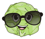 Cabbage in sunglasses Royalty Free Stock Photos