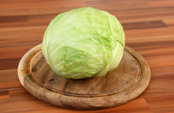 Cabbage on table Royalty Free Stock Images