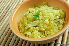 Cabbage thoran. Spicy indian vegetarian cabbage thoran. Ke Royalty Free Stock Photos