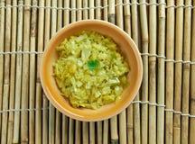 Cabbage thoran. Spicy indian vegetarian cabbage thoran. Ke Stock Image