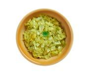 Cabbage thoran. Spicy indian vegetarian cabbage thoran. Ke Royalty Free Stock Image