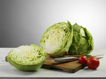 Cabbage and tomato Royalty Free Stock Photos