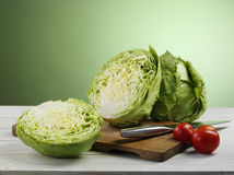 Cabbage and tomato Royalty Free Stock Photo