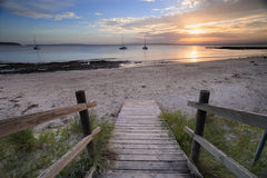 Cabbage Tree Beach Jervis Bay sunset Stock Image