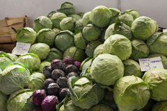 Cabbage in the Turkish market Royalty Free Stock Photos