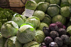 Cabbage in the Turkish market Stock Photos