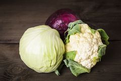 Cabbage types Royalty Free Stock Photo