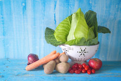 Cabbage and vegetables Royalty Free Stock Image