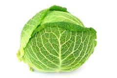 Cabbage on white stock photos