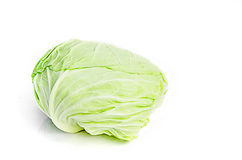 Cabbage. On white background royalty free stock image