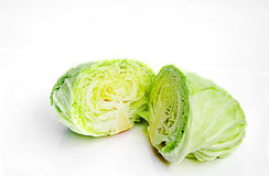 Cabbage. On white background royalty free stock images