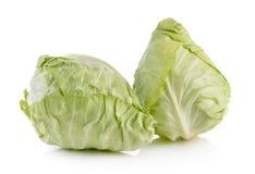 Cabbage on white background Stock Photos
