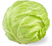 Cabbage on white background. Closeup Royalty Free Stock Images